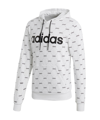 ADIDAS MEN'S CORE FAV HOODIE - WHITE