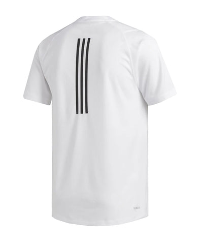 ADIDAS MEN'S FREELIFT SPORT TECH T SHIRT - WHITE