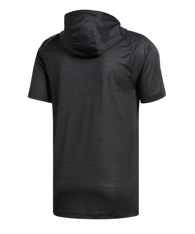 ADIDAS MEN'S FREELIGHT SS HOOD T SHIRT - BLACK