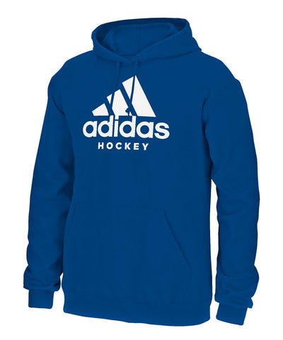 ADIDAS MEN'S HOCKEY HOODIE - BLUE