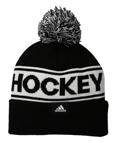 ADIDAS MEN'S HOCKEY POM WOOL TOQUE - BLACK/WHITE