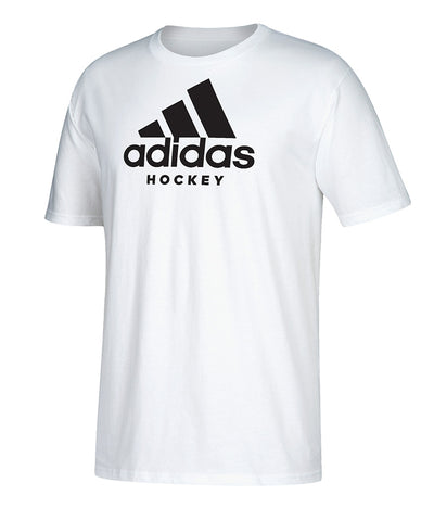 ADIDAS MEN'S HOCKEY T SHIRT - WHITE