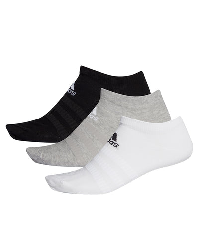 ADIDAS MEN'S LIGHT LOW-CUT SOCKS - 3 PACK WHITE/GREY/BLACK