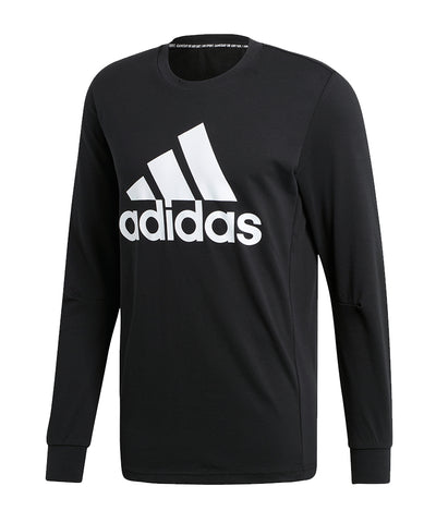 ADIDAS MEN'S MUST HAVES BADGE OF SPORT LONG SLEEVE SHIRT - BLACK/WHITE
