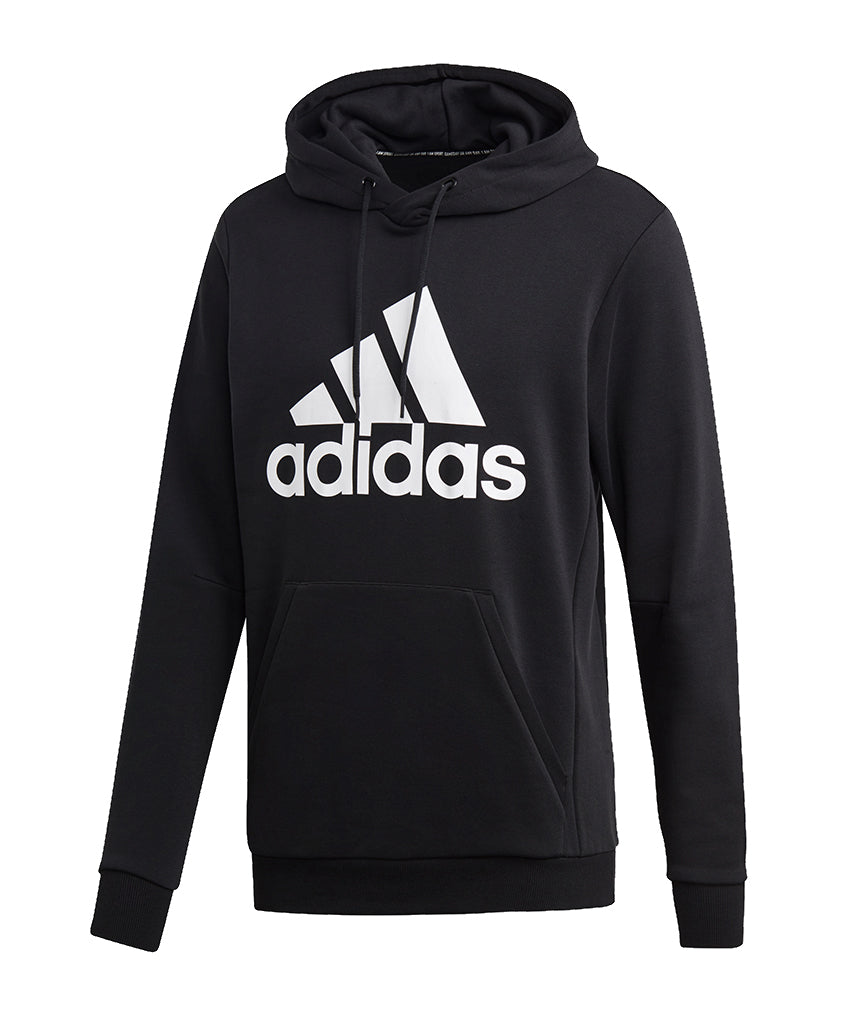 undefeated x retail prices unique design ADIDAS MEN'S MUST HAVES BADGE OF SPORT PULLOVER HOODIE - BLACK/WHITE