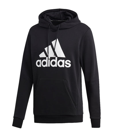 ADIDAS MEN'S MUST HAVES BADGE OF SPORT  PULLOVER HOODIE  - BLACK/WHITE