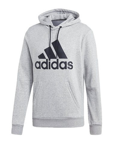 ADIDAS MEN'S MUST HAVES BADGE OF SPORT  PULLOVER HOODIE  - GREY/BLACK