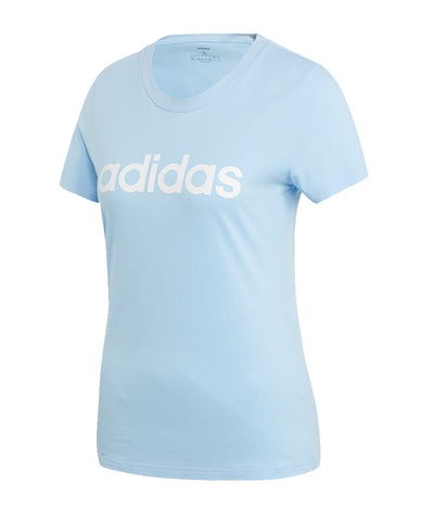 ADIDAS WOMEN'S  E LIN SLIM T SHIRT - BLUE