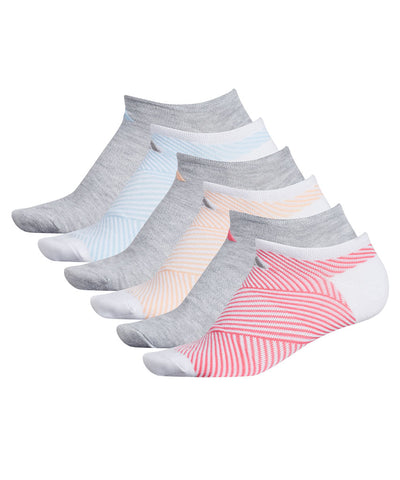 ADIDAS WOMEN'S SUPERLITE ADIANGLE NO SHOW SOCKS - 6 PACK