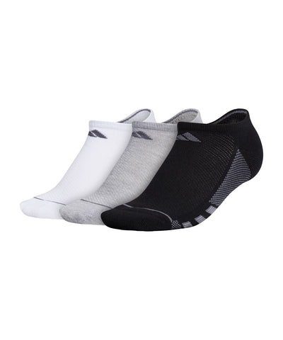 ADIDAS WOMEN'S WOMENS 3S ANKLE SOCKS - 3 PACK - BLACK/GREY/WHITE