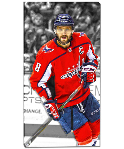 ALEX OVECHKIN WASHINGTON CAPITALS AUTHENTIC CANVAS PRINT - 14X28
