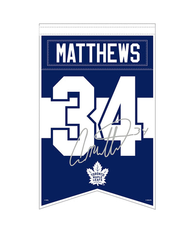 AUSTON MATTHEWS TORONTO MAPLE LEAFS PLAYER BANNER