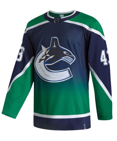 ADIDAS AUTHENTIC PRO QUINN HUGHES VANCOUVER CANUCKS REVERSE RETRO JERSEY