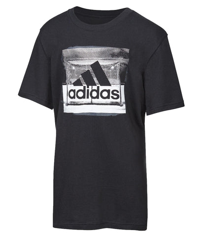 ADIDAS KID'S GOAL T SHIRT - BLACK