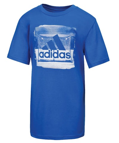 ADIDAS KID'S GOAL T SHIRT - BLUE