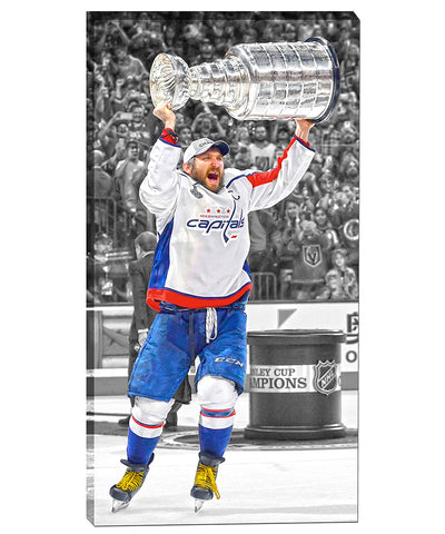 FRAMEWORTH ALEX OVECHKIN WASHINGTON CAPITALS CANVAS PRINT - 14X28