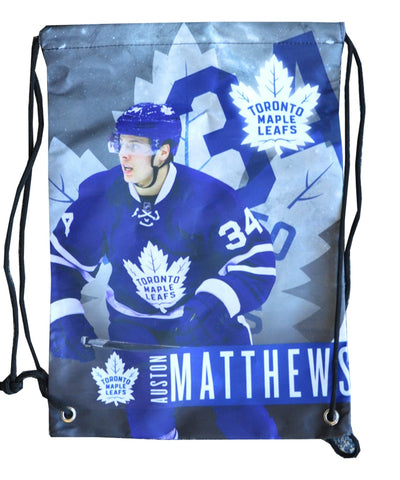 AUSTON MATTHEWS TORONTO MAPLE LEAFS DRAWSTRING LOGO BAG