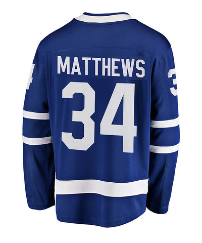FANATICS TORONTO MAPLE LEAFS AUSTON MATTHEWS MENS BREAKAWAY JERSEY