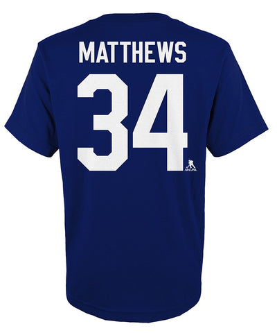 AUSTON MATTHEWS TORONTO MAPLE LEAFS KIDS PLAYER T SHIRT