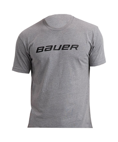 BAUER KID'S CORE SS CREW T SHIRT - HEATHER GREY