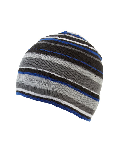 BAUER MEN'S COLOUR POP STRIPED KNIT TOQUE