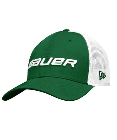 BAUER MEN'S NEWERA 39THIRTY MESH BACK HAT - GREEN