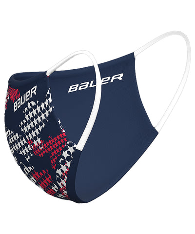 BAUER REVERSIBLE FABRIC FACE MASK - NAVY/STARS