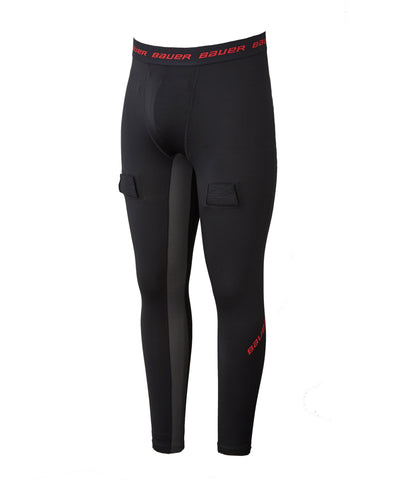 BAUER BOY'S ESSENTIAL COMPRESSION JOCK PANTS