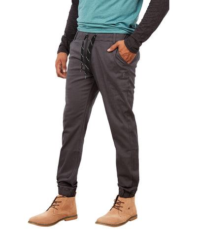 GONGSHOW MEN'S DARK GREY JOGGER CHINOS PANTS