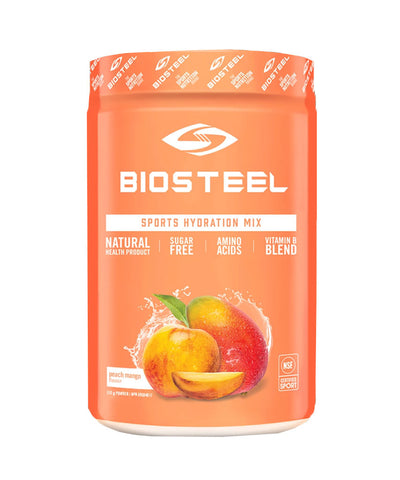BIOSTEEL NATURAL HIGH PERFORMANCE SPORTS DRINK -  PEACH MANGO 315g