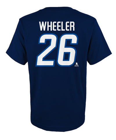 BLAKE WHEELER WINNIPEG JETS KID'S NAME AND NUMBER T SHIRT