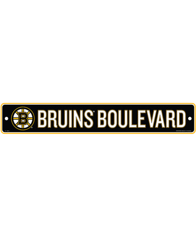 "BOSTON BRUINS 4""X23"" STANDARD STREET SIGN"