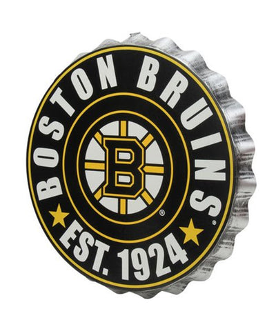 BOSTON BRUINS BOTTLE CAP WALL LOGO