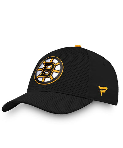 BOSTON BRUINS FANATICS MEN'S RINKSIDE STRUCTURED STRETCH HAT