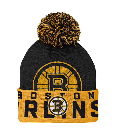 BOSTON BRUINS KID'S REDLINE CUFFED POM KNIT TOQUE