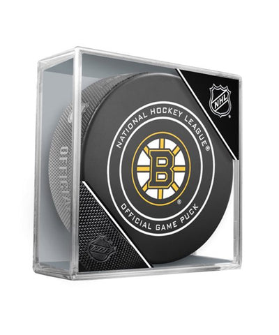 BOSTON BRUINS OFFICIAL 2018 NHL GAME PUCK