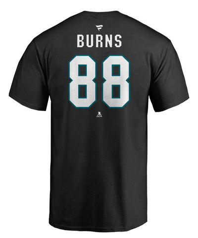BRENT BURNS SAN JOSE SHARKS FANATICS MEN'S NAME & NUMBER T SHIRT