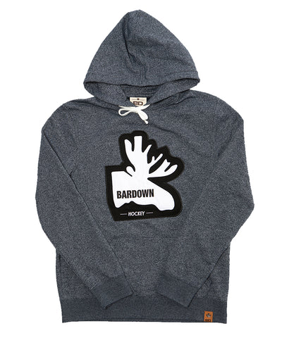 BARDOWN MEN'S MOOSE HOODIE - NAVY