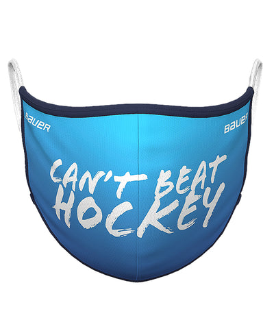 BAUER REVERSIBLE NON-MEDICAL FABRIC FACE MASK - CAN'T BEAT HOCKEY