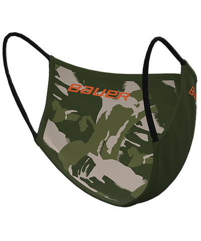BAUER REVERSIBLE NON-MEDICAL FABRIC FACE MASK - GREEN/CAMO