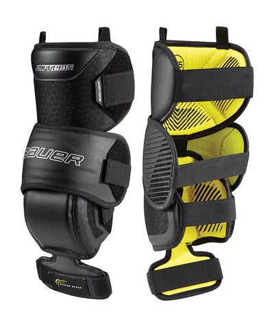 BAUER SUPREME JR GOALIE KNEE GUARDS - 2018