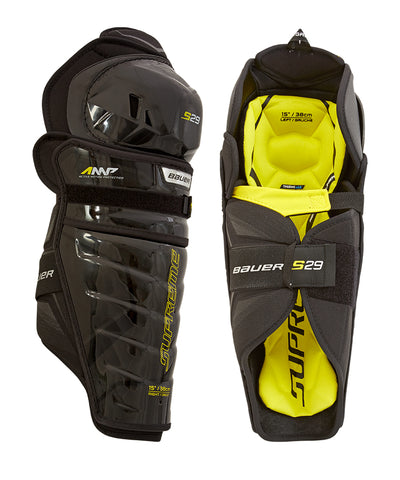 BAUER SUPREME S29 SR SHIN GUARDS