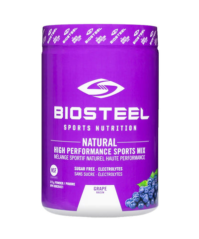 BIOSTEEL NATURAL HIGH PERFORMANCE SPORTS DRINK -  GRAPE 315g