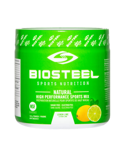 BIOSTEEL NATURAL HIGH PERFORMANCE SPORTS DRINK -  LEMON LIME 140g