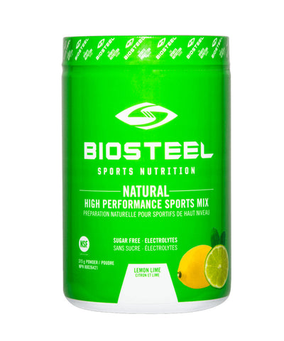 BIOSTEEL NATURAL HIGH PERFORMANCE SPORTS DRINK -  LEMON LIME 315g