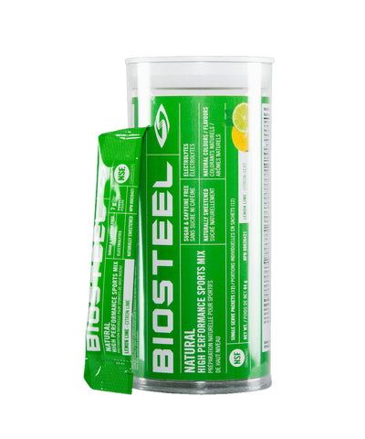 BIOSTEEL NATURAL HIGH PERFORMANCE SPORTS DRINK MIX TUBE - LEMON LIME 12 PACK
