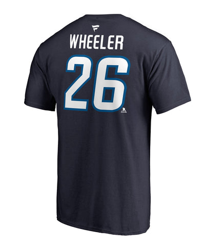 BLAKE WHEELER WINNIPEG JETS FANATICS MEN'S NAME AND NUMBER T SHIRT