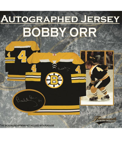 BOBBY ORR BOSTON BRUINS FRAMEWORTH AUTHENTIC SIGNED JERSEY