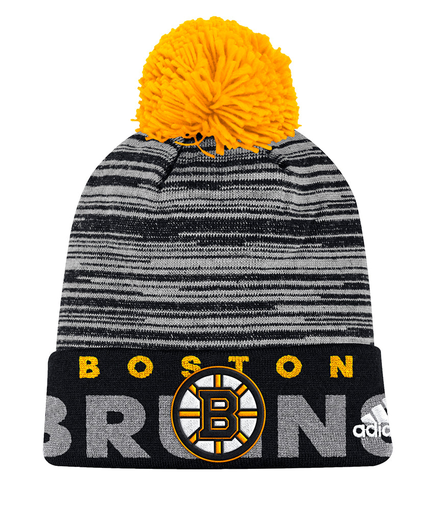 competitive price 221d8 53d95 ... switzerland boston bruins adidas cuffed pom knit beanie c6c9d a204c