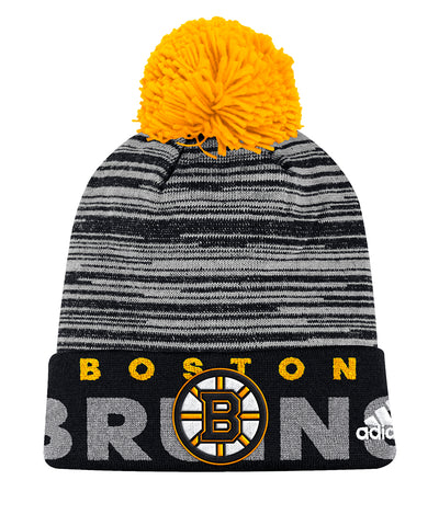 BOSTON BRUINS ADIDAS CUFFED POM KNIT BEANIE
